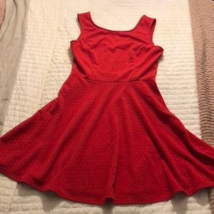Red Holiday Skater Dress